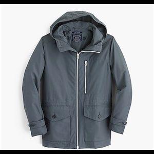 J. Crew Cotton-nylon x250 hooded jacket